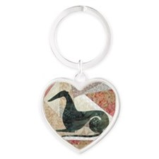 Green Repose Heart Keychain