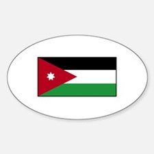 Jordan Flag Oval Decal