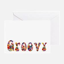 jesusIsGroovy-whStr-stroked8x7 copy Greeting Card