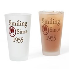 smiling 55 Drinking Glass