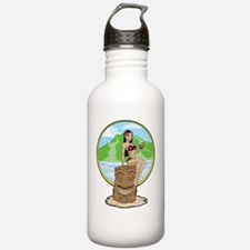 BaliHaiGirl_yellow_cmy Water Bottle