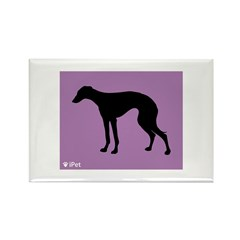 Greyhound iPet Rectangle Magnet (100 pack)