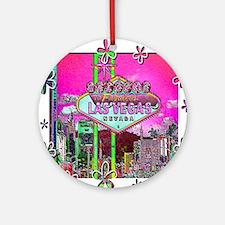 Las Vegas - Hot Pink! Ornament (Round)