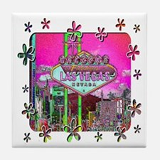 Las Vegas - Hot Pink! Tile Coaster