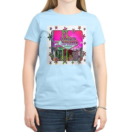 Las Vegas - Hot Pink! Women's Pink T-Shirt