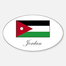 Jordan - Jordanian Flag Oval Decal