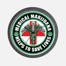 Medical-Marijuana-Helps-Saves-Lives Wall Clock