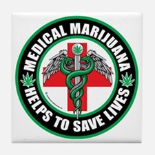 Medical-Marijuana-Helps-Saves-Lives Tile Coaster