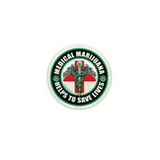 Medical-Marijuana-Helps-Saves-Lives Mini Button