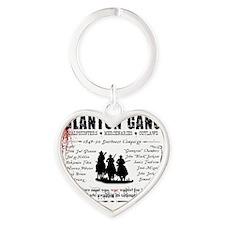 glantongangwhite Heart Keychain