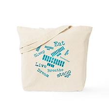 Dream steno - blue Tote Bag