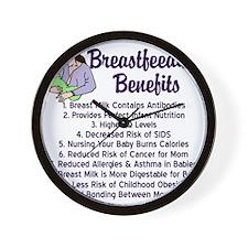 breastfeedingbenefits Wall Clock