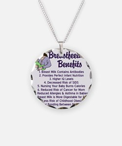 breastfeedingbenefits Necklace Circle Charm