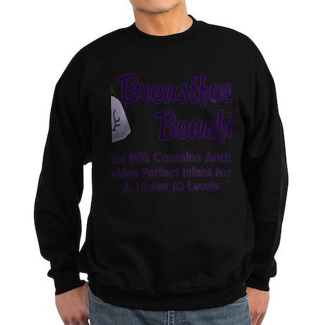 breastfeedingbenefits Sweatshirt (dark)
