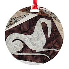 Brown Study Ornament