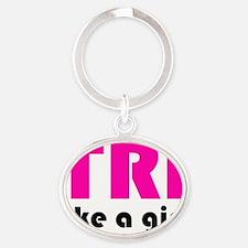 tri2 Oval Keychain