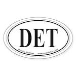 Detroit, Michigan Oval Car Sticker