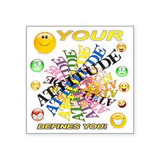 """ATTITUDE Square Sticker 3"""" x 3"""""""