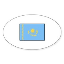 Kazakhstan Flag Oval Decal