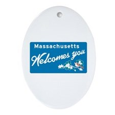 Welcome to Massachusetts - USA Oval Ornament