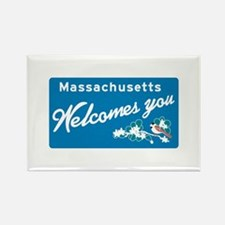 Welcome to Massachusetts - USA Rectangle Magnet