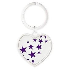 stars_2010_lila Heart Keychain