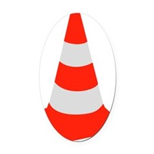 traffic_cone Oval Car Magnet