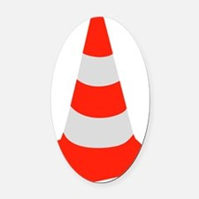 traffic_cone Oval Car Magnet