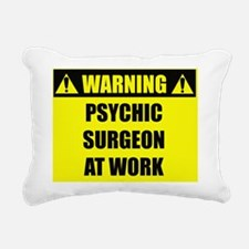 warningpsychicsurgeon Rectangular Canvas Pillow