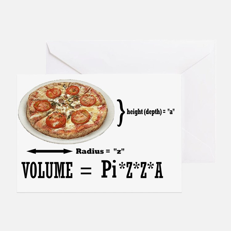 2-PIZZA PI Greeting Card
