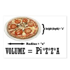 2-PIZZA PI Postcards (Package of 8)