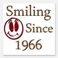 "smiling 66 Square Car Magnet 3"" x 3"""