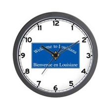 Welcome to Louisiana - USA Wall Clock