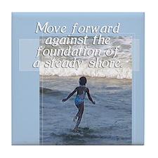 Moving Forward Beach Tile Coaster