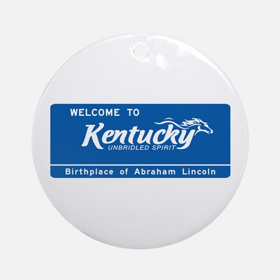 Welcome to Kentucky - USA Ornament (Round)