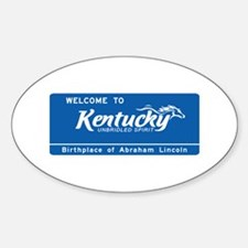 Welcome to Kentucky - USA Oval Decal