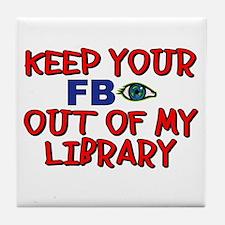 FBI OUT Tile Coaster