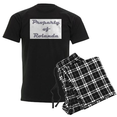 Property Of Rolanda Female Men's Dark Pajamas