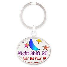 Night Shift Oval Keychain