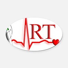 Respiratory Therapy Oval Car Magnet