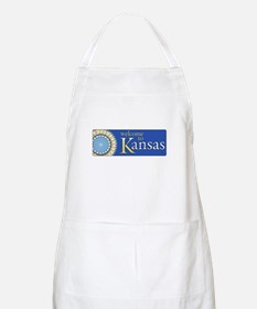 Welcome to Kansas - USA BBQ Apron