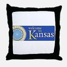 Welcome to Kansas - USA Throw Pillow