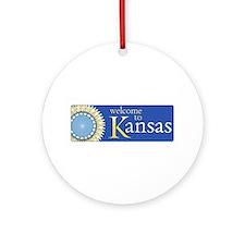 Welcome to Kansas - USA Ornament (Round)