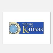 Welcome to Kansas - USA Postcards (Package of 8)