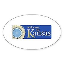 Welcome to Kansas - USA Oval Decal