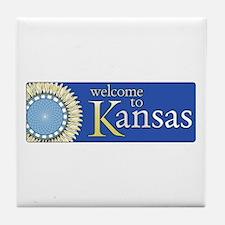 Welcome to Kansas - USA Tile Coaster