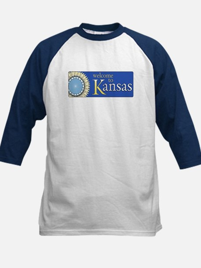 Welcome to Kansas - USA Kids Baseball Jersey