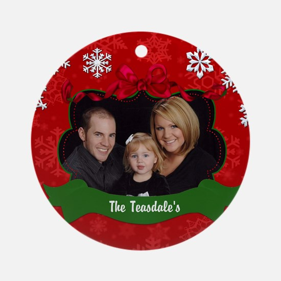Christmas Photo Ornament (Round)