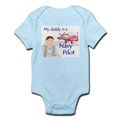 Daddy/Navy Pilot Infant Creeper