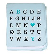 Alphabet Boy baby blanket